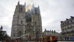 Nhà thờ Nantes bị hỏa hoạn ngày 18/07/2020.