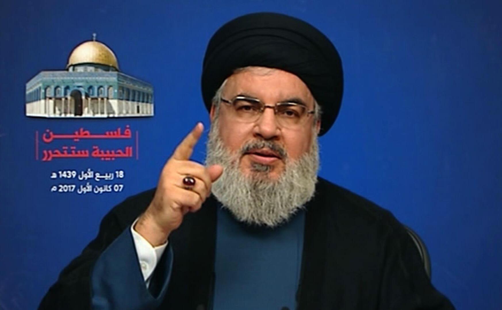 Hassan Nasrallah, kiongozi wa kundi la Hezbollah, Lebanon, Desemba 7, 2017.