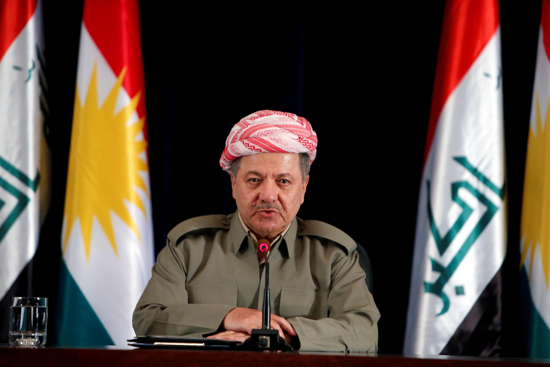Massoud Barzani durant une conférence à Erbil en septembre 2017.