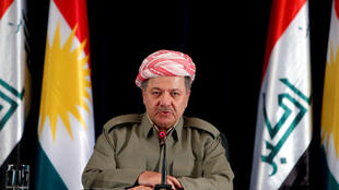 El presidente kurdo Masud Barzani durante una conferencia de prensa en Erbil, Irak, el 24 de septiembre de 2017.