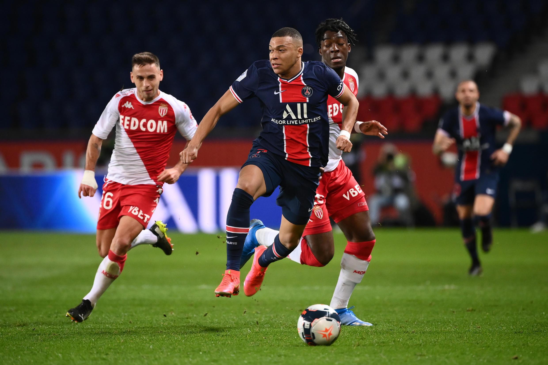 Kylian Mbappe's former club Monaco won 2-0 at the Parc des Princes on Sunday to dent Paris Saint-Germain's Ligue 1 title hopes