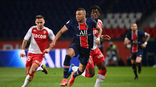 Kylian Mbappe's former club Monaco won 2-0 at the Parc des Princes on Sunday to dent Paris Saint-Germain's Ligue 1 title hopes
