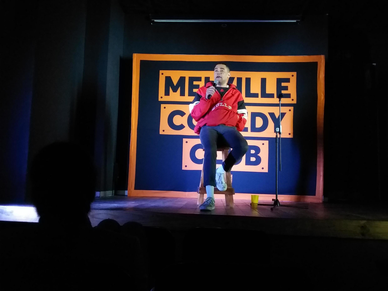 Robby Collins au Melville Comedy Club, à Johannesburg.
