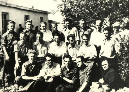 Prisoners at the Kengir camp in May 1955.