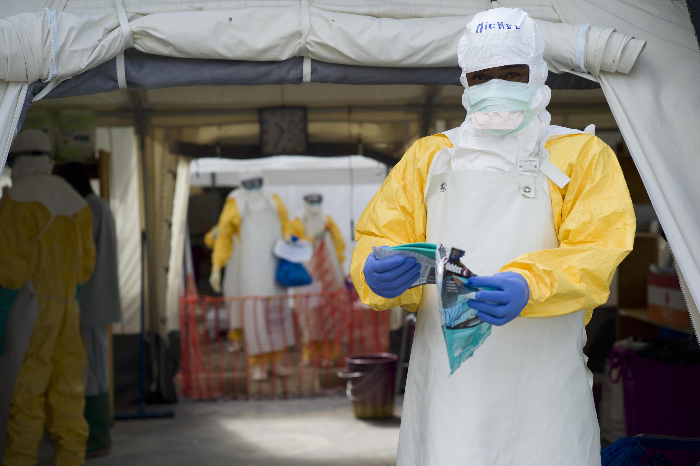 L'objectif de ce corps médical européen est de réagir plus rapidement et efficacement en cas d'épidémie. Ici, un centre de soins contre le virus Ebola en Guinée (photo d'illustration)
