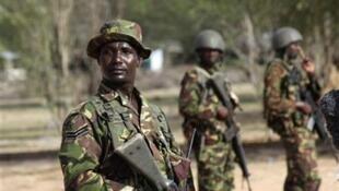 Wasu sojojin kasar Kenya