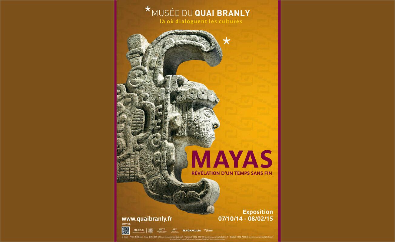 L'exposition Mayas-révélation d'un temps sans fin est à voir au musée du quai Branly jusqu'au 8 février 2015.