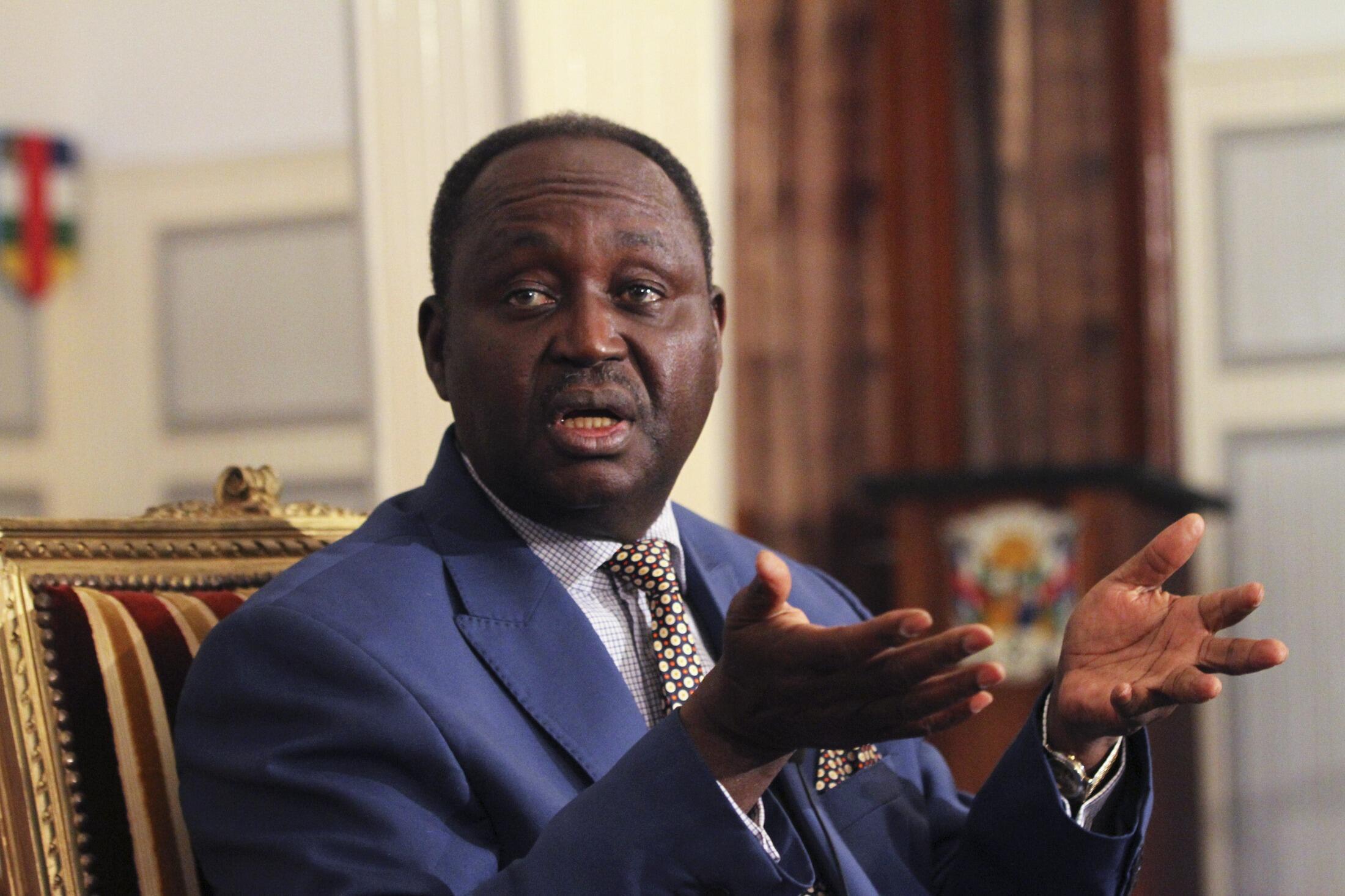 L'ex-président centrafricain François Bozizé, à Bangui, le 8 janvier 2013.