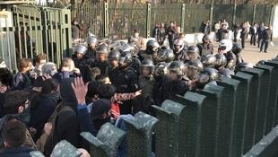 اعتراضات روز دوشنبه مقابل دانشگاه تهران