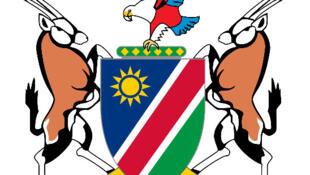 L'emblème de la Namibie (détail).