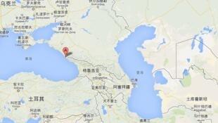 亚美尼亚与阿塞拜疆接壤及周边国家图