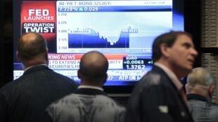 Operadores do mercado financeiro de Nova York aguardavam ansiosos o anúncio do Fed