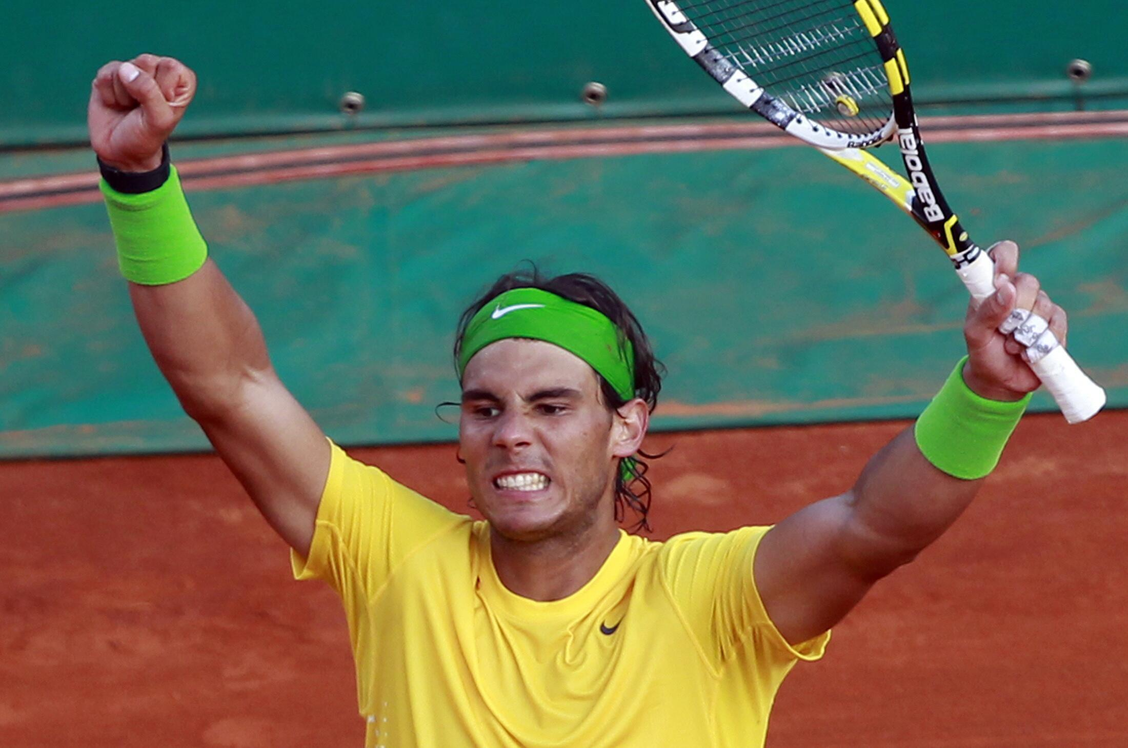 Rafael Nadal   vitorioso, recentemente  em Monte Carlo