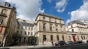 Ginin shalkwatan jam'iyyar Socialist da ke  Rue de Solférino a birnin Paris na Faransa