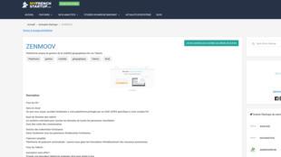 La page d'accueil de Zenmoov, spécialiste de la mobilité