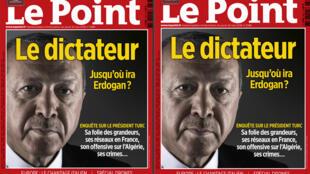Trang nhất tuần báo Le Point N° 2386, ngày 24/05/2018, với ảnh tổng thống Thổ Nhĩ Kỳ Recep Erdogan (Ảnh chụp màn hình)