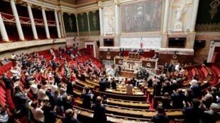 Le président de l'Assemblée nationale française François de Rugy a prononcé un discours où il a plaidé pour un «Parlement puissant», le 26 juin 2018.