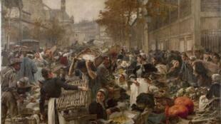 Леон Лермитт «Чрево Парижа», 1895 год.