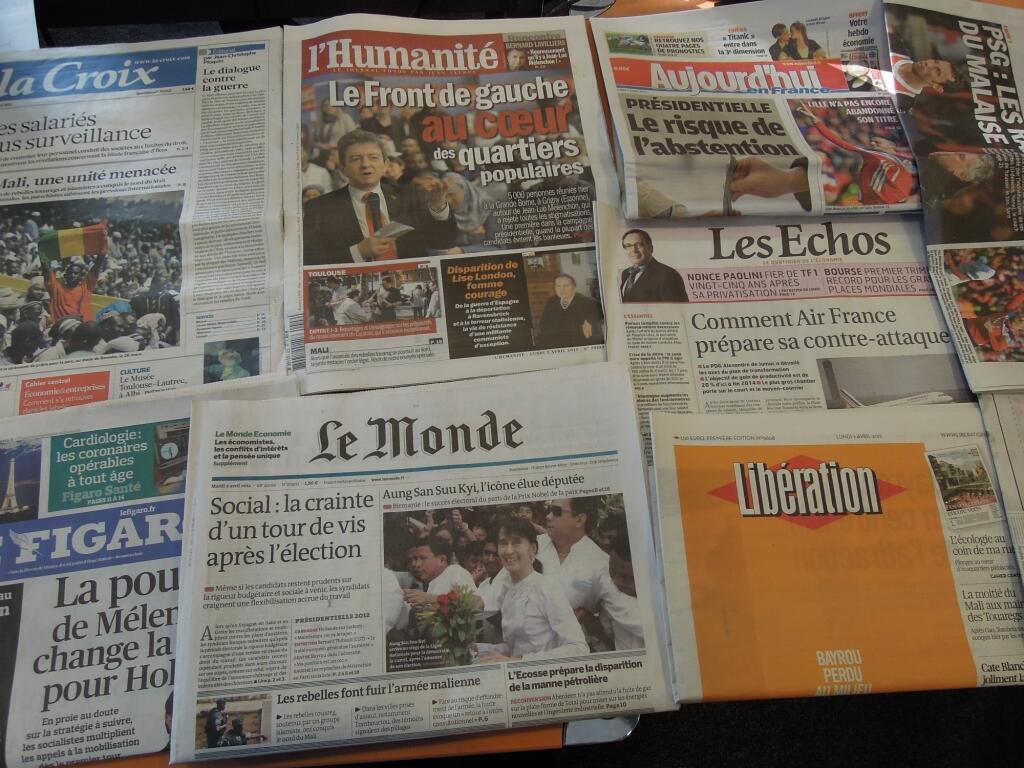 Diários franceses    02/04/2012