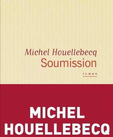 "Detalle de porta de ""Soumission"", la última novela de Michel Houellebecq."