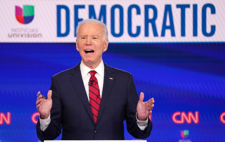 O antigo vice-presidente dos Estados Unidos, Joe Biden, e candidato democrata às primárias nos EUA.