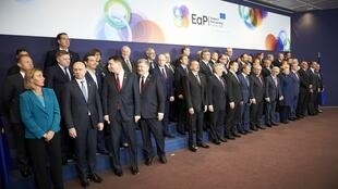 Семейное фото участников саммита «Восточного партнерства» 24 ноября в Брюсселе