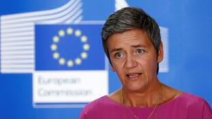 A comissária europeia para a Concorrência, Margrethe Vestager.