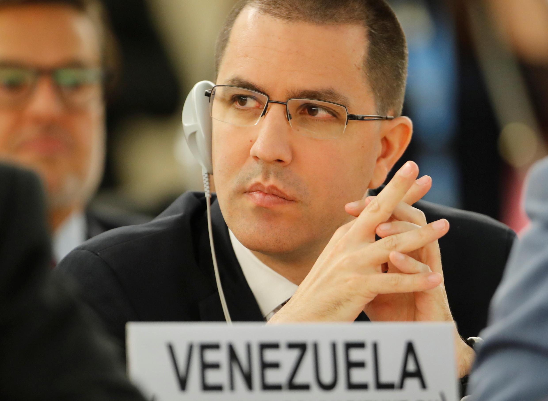 Jorge Arreaza, ministre des Affaires étrangères de Maduro (photo d'archives).