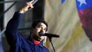 Rais wa Venezuela Nicolas Maduro wakati wa mkutano jijini Caracas, Oktoba 26, 2015.