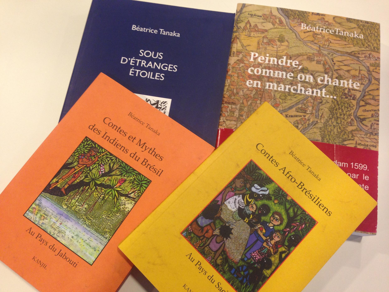 Alguns livros de Béatrice Tanaka editados na França