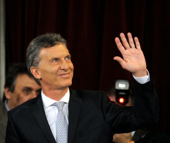 Mauricio Macri akijianda kuapishwa kama rais wa Argentina, Desemba 10, 2015 katika mji wa Buenos Aires.