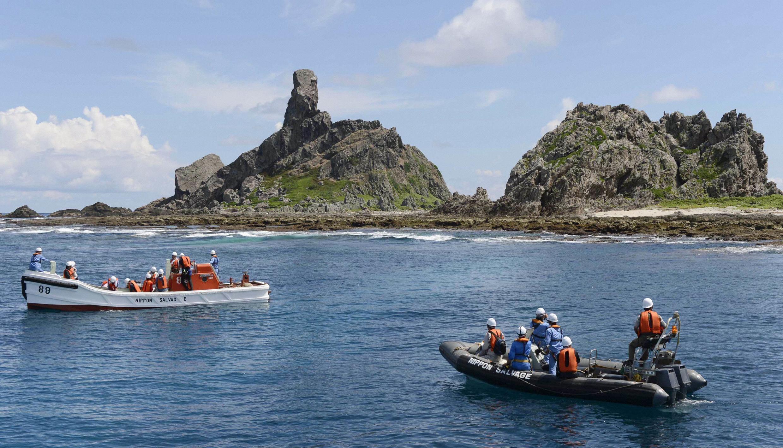 日本東京都調查船靠近釣魚島開始沿岸地形調查