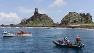 日本东京都调查船靠近钓鱼岛开始沿岸地形调查