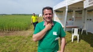 Damien Ronget, chef de service production végétales de la chambre d'agriculture de Côte-d'Or.