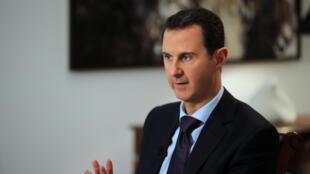 O presidente sírio Bachar Al-Assad em entrevista à AFP. Damasco 11 de fevereiro de 2016