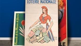 Cartazes antigos da Française des Jeux.