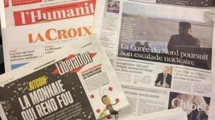 Primeiras páginas dos jornais franceses de 30/11/2017