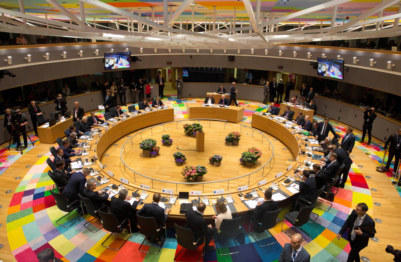 Los 27 mandatarios reunidos en la cumbre europea en Bruselas, este sábado 29 de abril para hablar del Brexit.