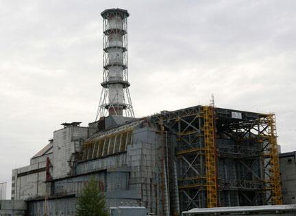 La centrale nucléaire de Tchernobyl.