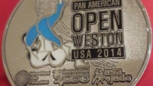 Medalha de Prata conquistada pela judoca Faia no Open Pan-Americano de 1 e 2 de agosto