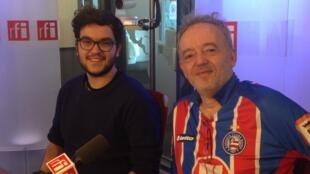 João Pedro de Castro e Gilles Nallet (d) são sócios no restaurante Barracão