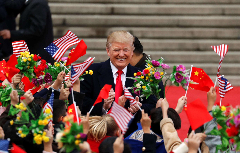 Дональд Трамп во время визита в Китай, 9 ноября 2017.