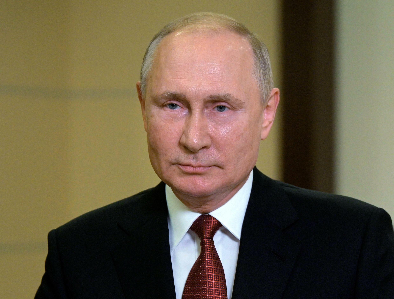 Vladimir Putin, durante un discurso a la nación el 15 de septiembre de 2021 en su residencia oficial de Novo-Ogaryov, a las afueras de Moscú