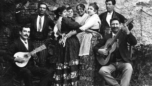 گروه فلامنکو نوازان - اوایل قرن بیستم -روستای ساکرومونته، گرانادا - عکس از رافائل گارسون