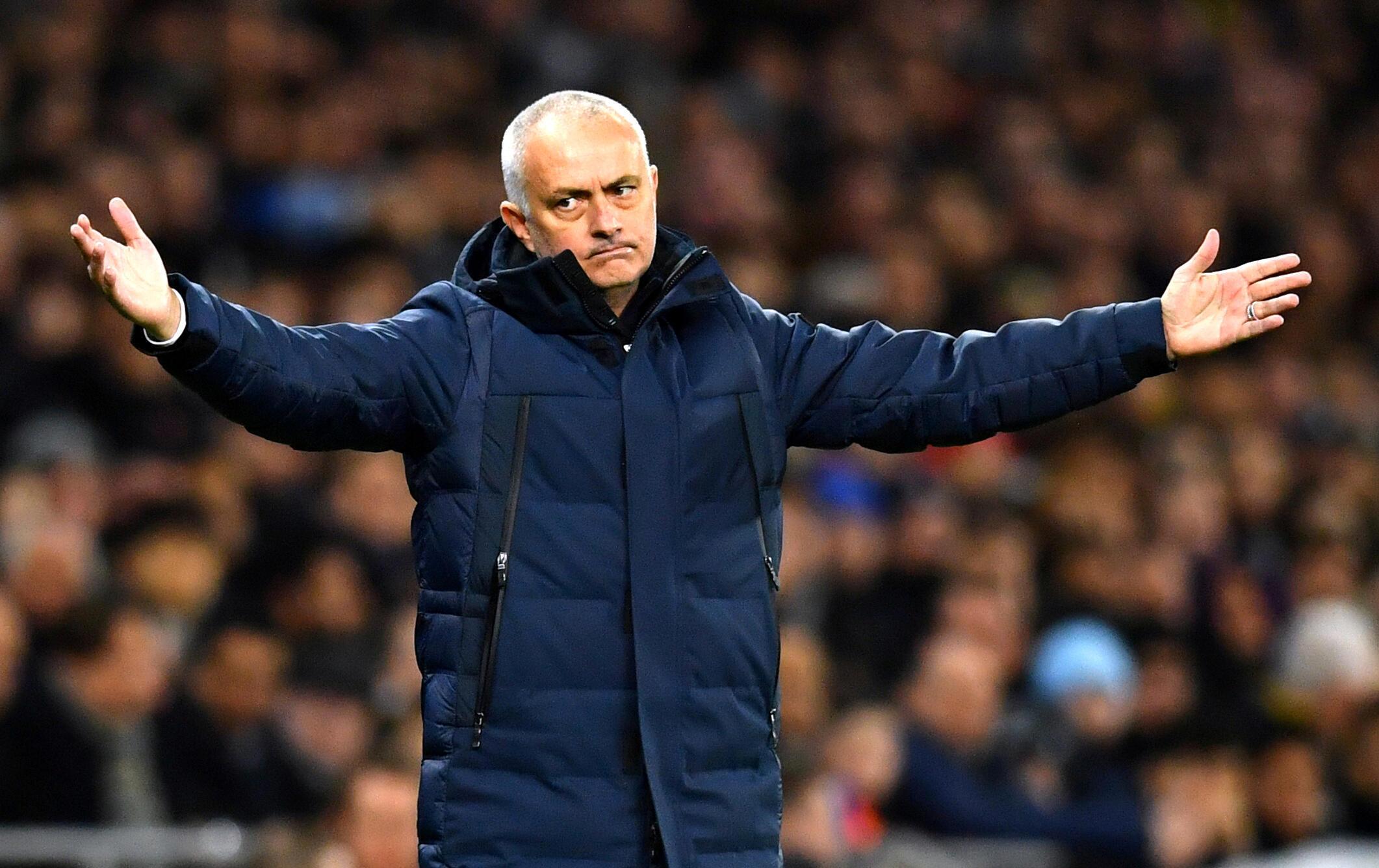 José Mourinho, treinador português do Tottenham.