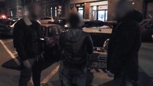 Momento da detenção de Rui Pinto em Budapeste, na Hungria, a 16 de Janeiro de 2019 (fotografia da polícia húngara).