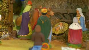 """Los típicos """"santons"""" provenzales hacen su aparición durante la Navidad."""