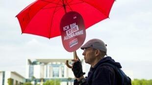 Une manifestation en juin 2014:  c'est sous la pression syndicale que les sociaux démocrates sont parvenus à faire voter cette loi.