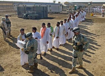 La prison d'Abou Ghraïb, à 25 kilomètres à l'ouest de Bagdad, en octobre 2005.