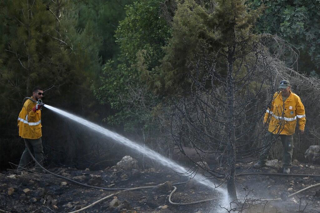 Des incendies ont éclaté en Galilée, près de la frontière libanaise.